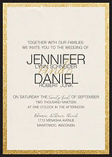 Stunning and simple wedding invitation