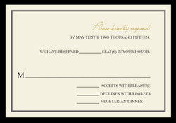 Fabulous Fifty response card