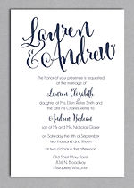 superb white and silve wedding invitation with modern touches and spectacular font lyout