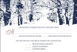 Winter Wonderland response card