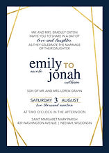 Hip and modern invitation layout with gold simplicity perfect for the modern yet classy wedding