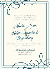 Classic, sophistication, tailored wedding invitation