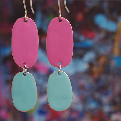 Double Drops - Neon Pink/Turquoise