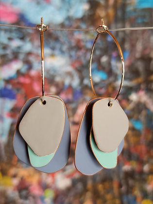 *Lou Drops - Pigeon Blue/Turquoise/Sand