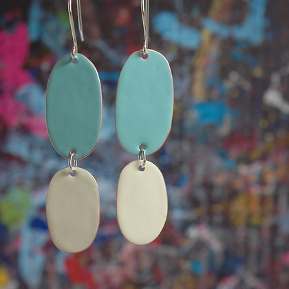 Double Drops - Turquoise/Ivory
