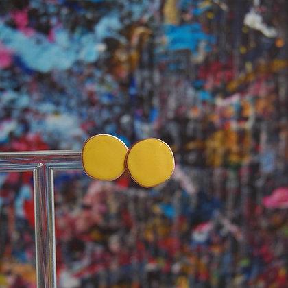 Dot Studs - Mustard