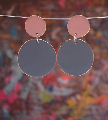 Polkadots - Pink/Pigeon Blue