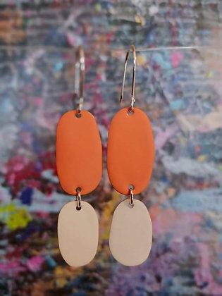Double Drops - Orange/Ivory