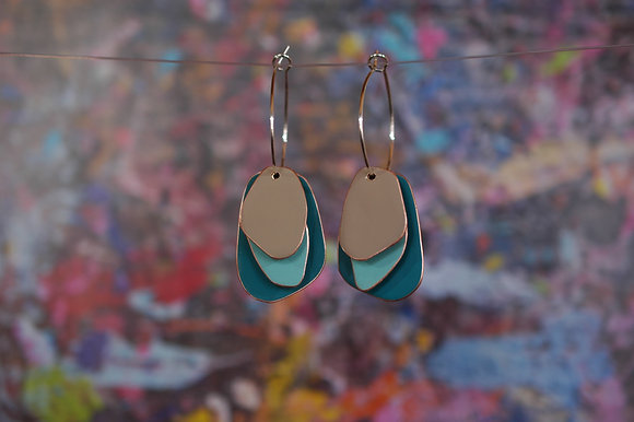 Lou Drops - Dark turquoise/Light Turquoise/Sand