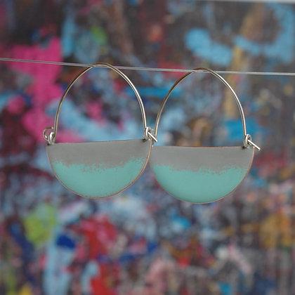 Landscape Earrings - Light Grey/Turquoise
