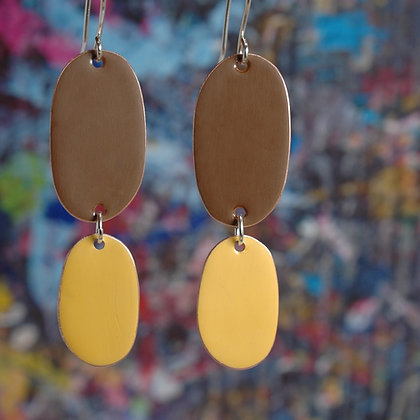 Double Drops - Brown/Mustard