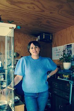 Mel Hopkinson standing in studio