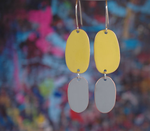 Double Drops - Yellow/Light Grey