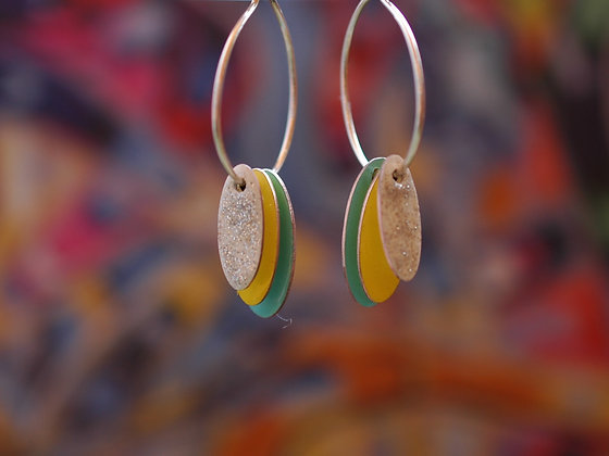 Hoops and Drops Earrings - Custom Colour