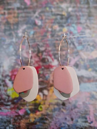 Lou Drops - White/Grey Terrazzo/Light Pink