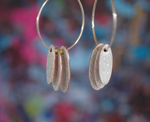 Hoops and Drops - White Glitter