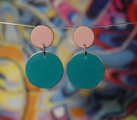 Polkadots - Pink/Dark Turquoise