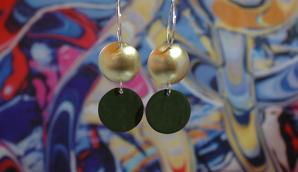 Domed Dots - Olive Green