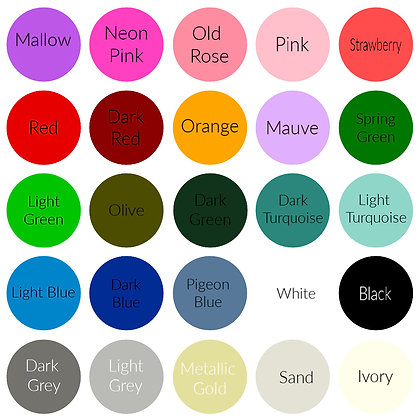 Colour Chart - Reference