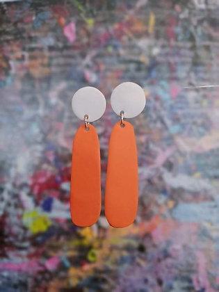 Teardrops - Ivory/Orange