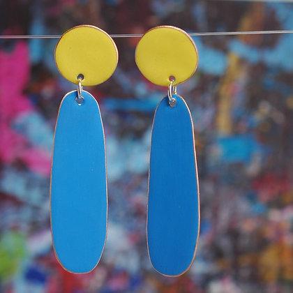 Teardrops - Yellow/Light Blue