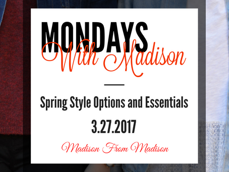 Spring Style Options and Essentials