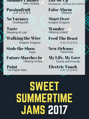 Sweet Summertime Jams 2017