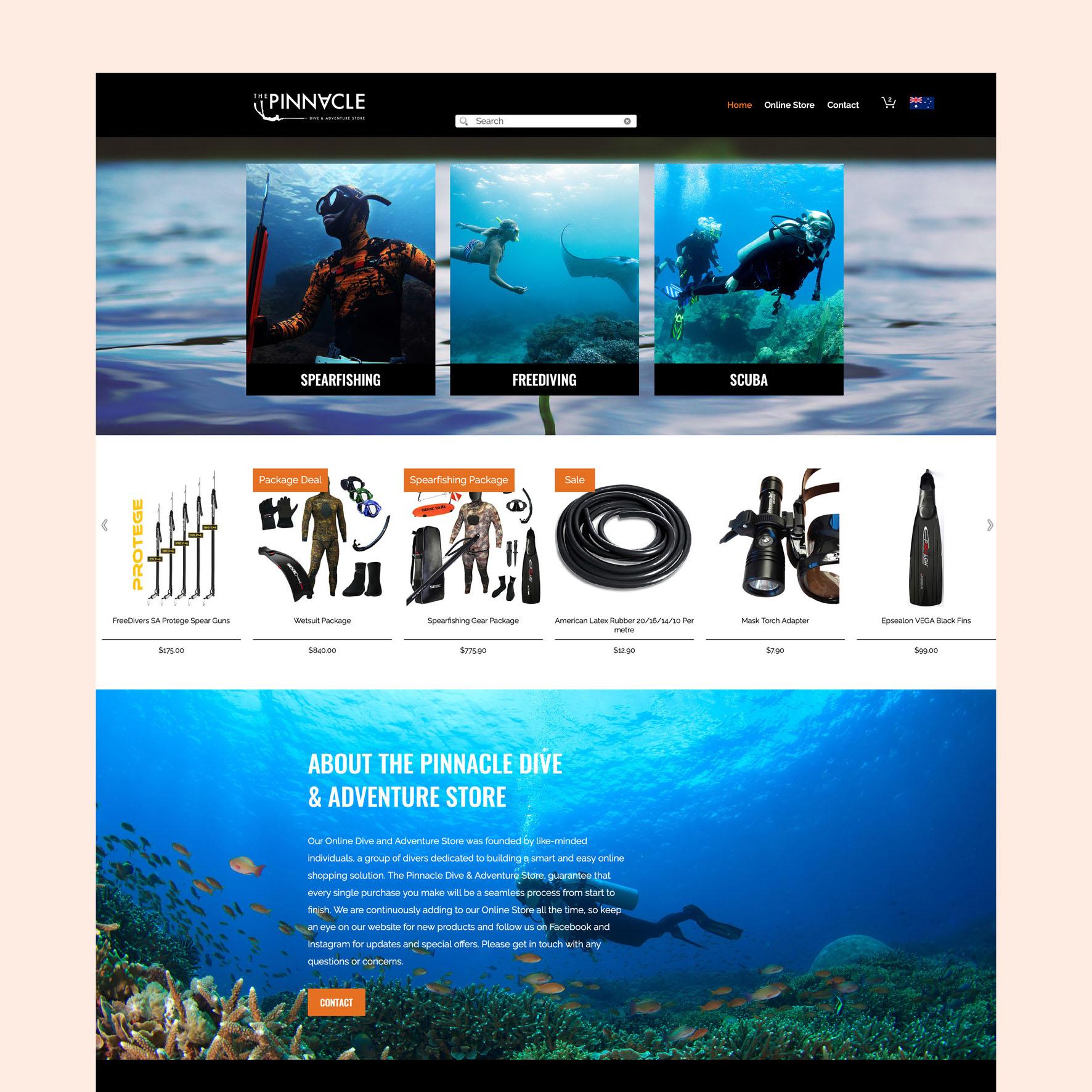 The Pinnacle Dive Website
