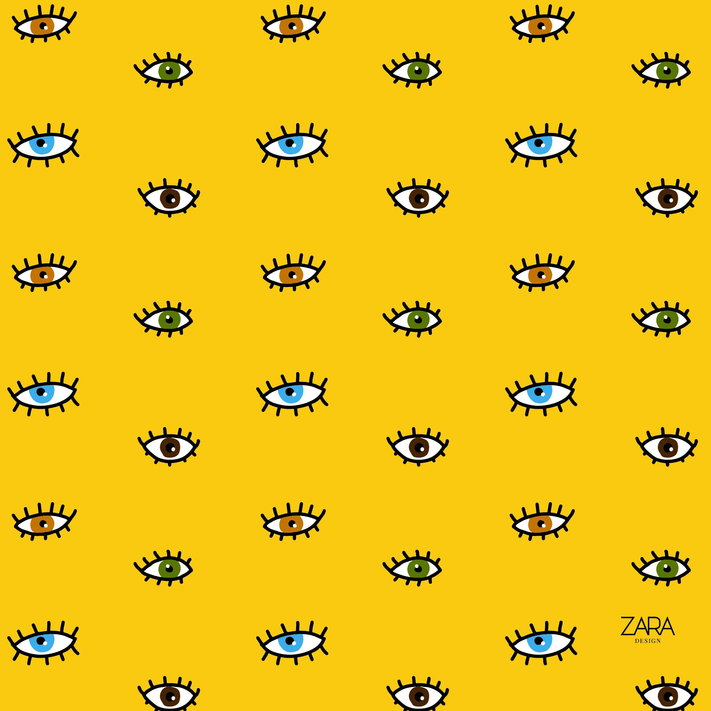 all eyes mustard pattern
