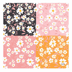 white floral 4patterns MU