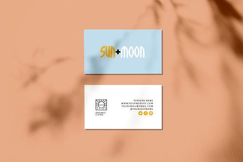 Organic/Sun & Moon Logo Brand Kit for Sale
