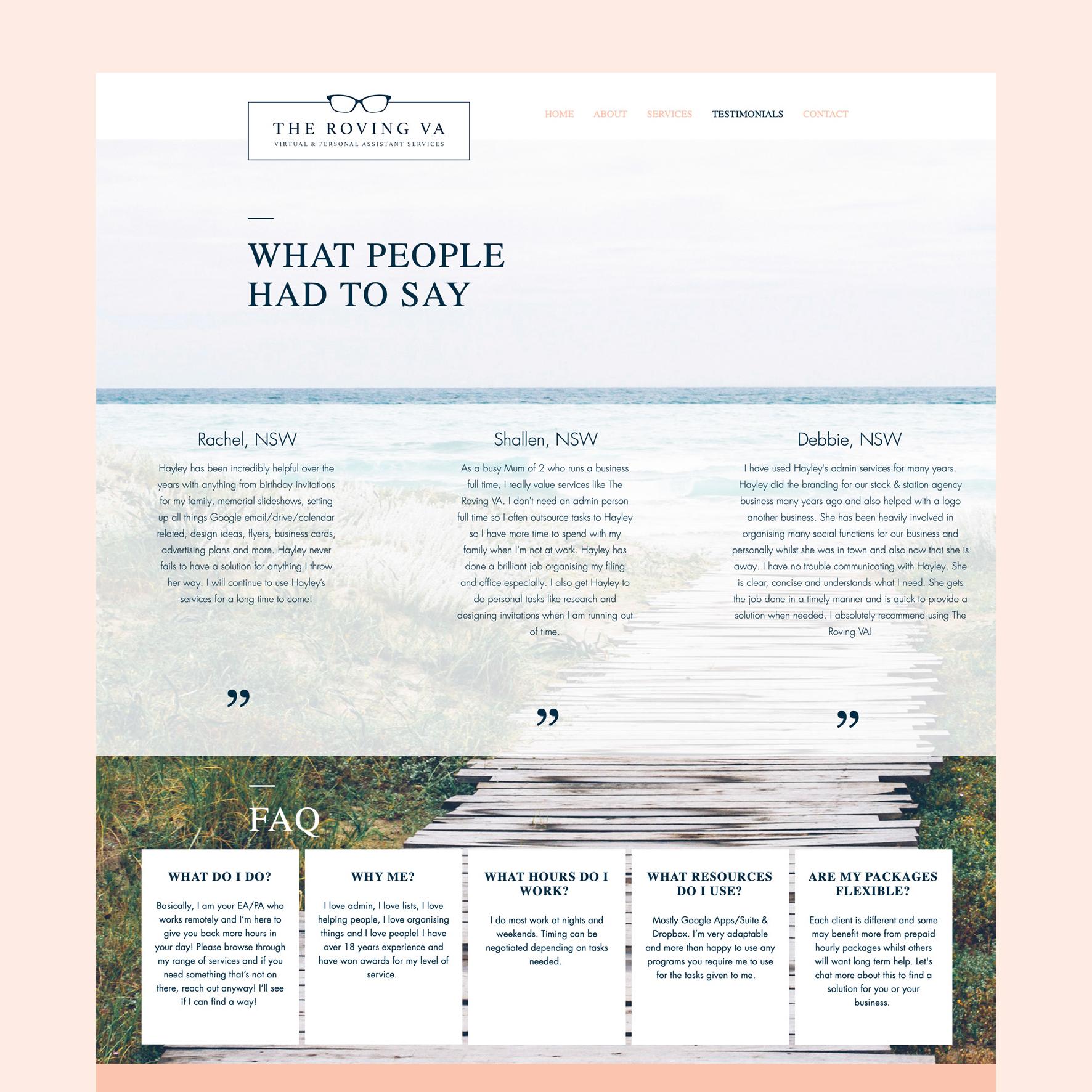 TRVA Testimonial Page