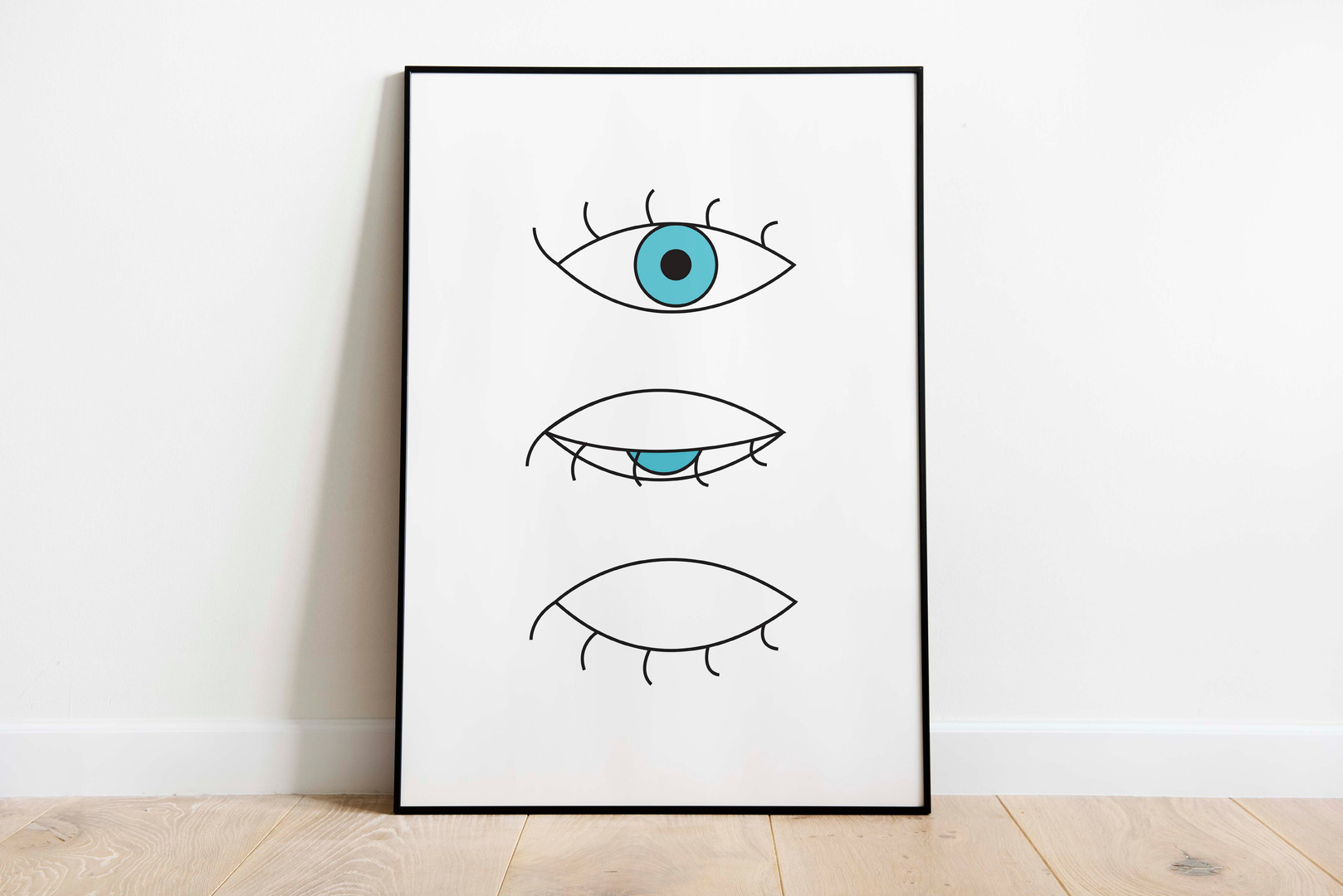 blue eye closing