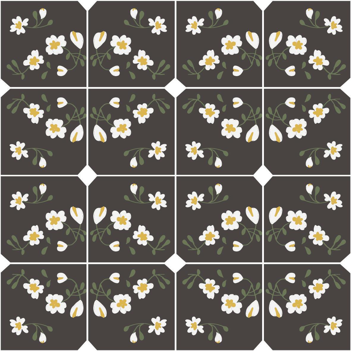 Dark Flower Til Pattern