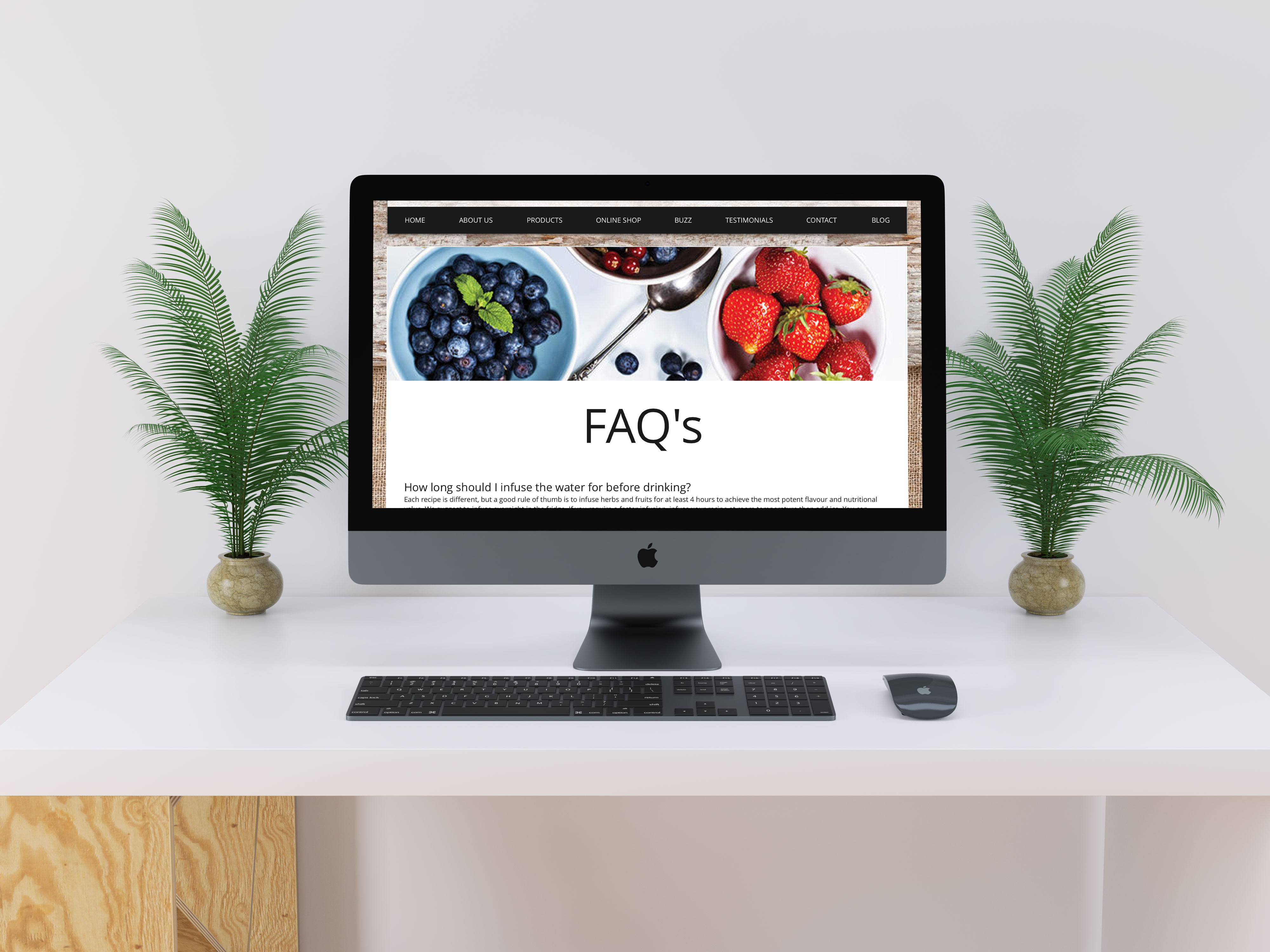 Be4Life Website - FAQ Page