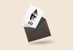 40th invitation mockup