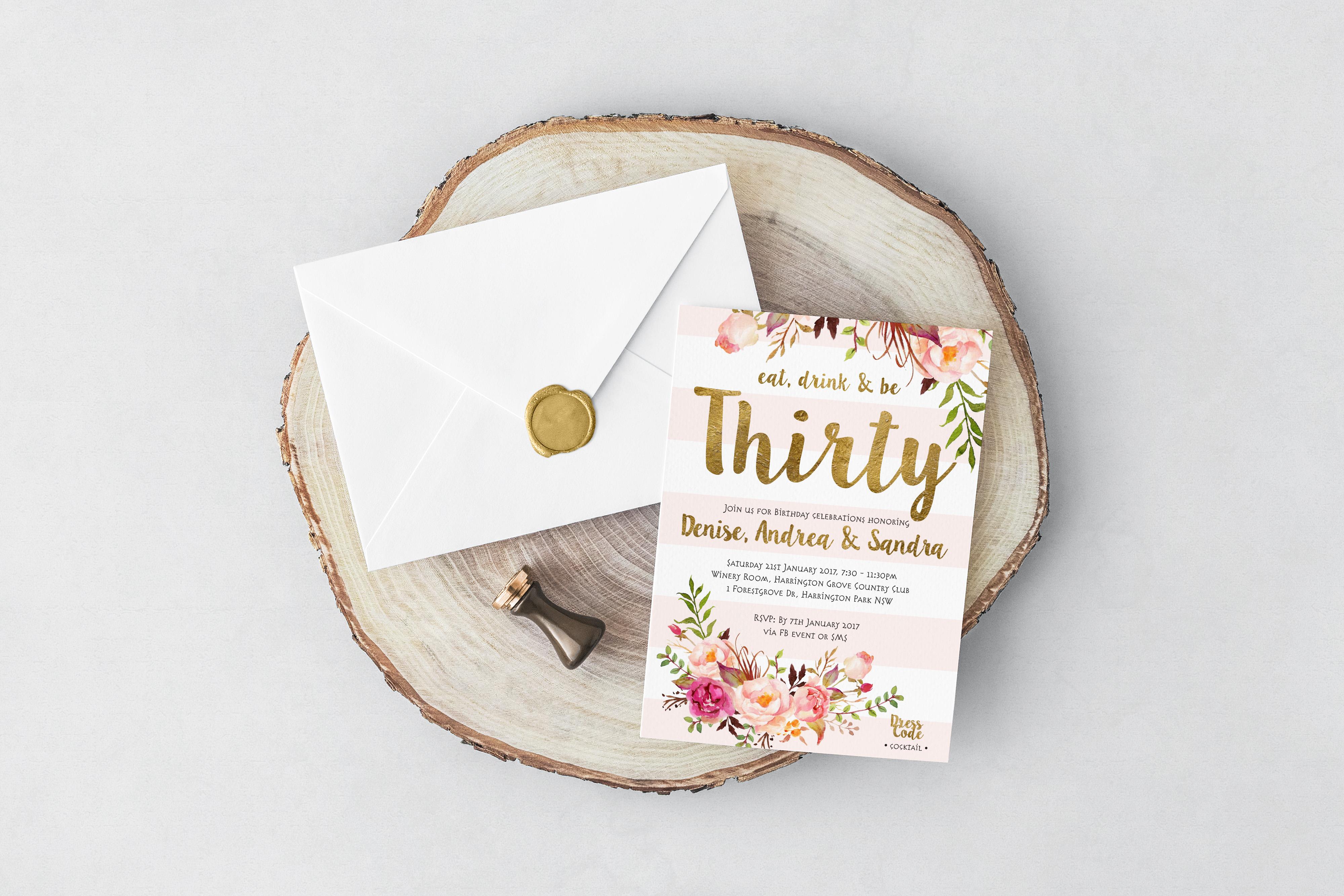 Thirty Invitations