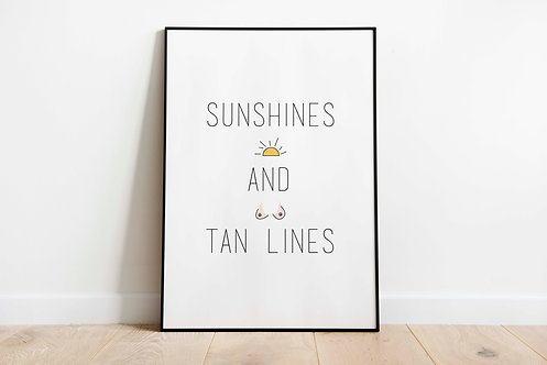 sunshines and tan lines