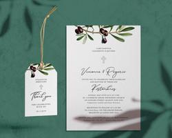 Olive leaf wedding invite_tag