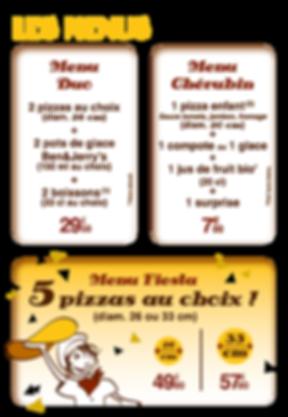les menus  pizzeria noolie's Vieux Boucau