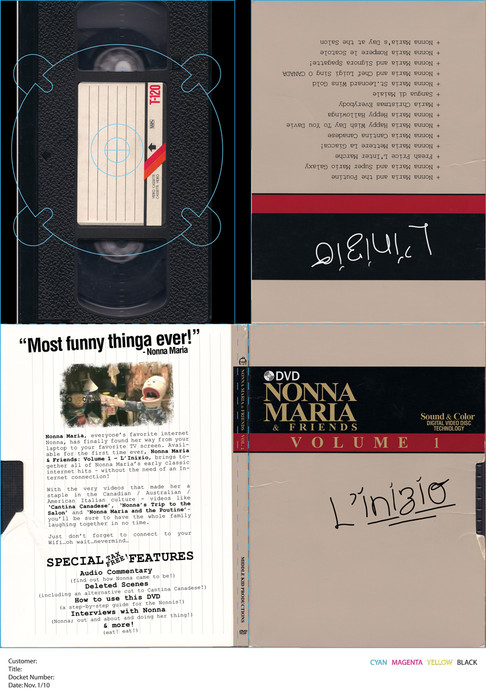 """DVD package design for """"Nonna Maria and Friends"""" compilation DVD"""