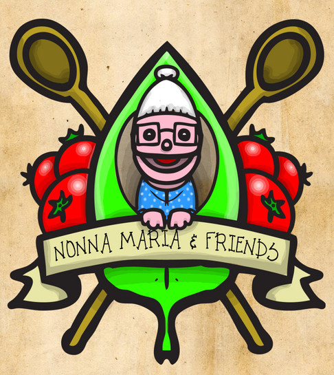 """Current logo for """"Nonna Maria and Friends"""" - a YouTube web series I produce along with some friends."""