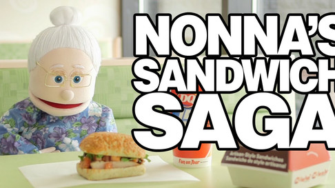 Online marketing campaign featuring Nonna Maria and Friends produced for Dairy Queen to promote their chicken bruschetta sandwich.
