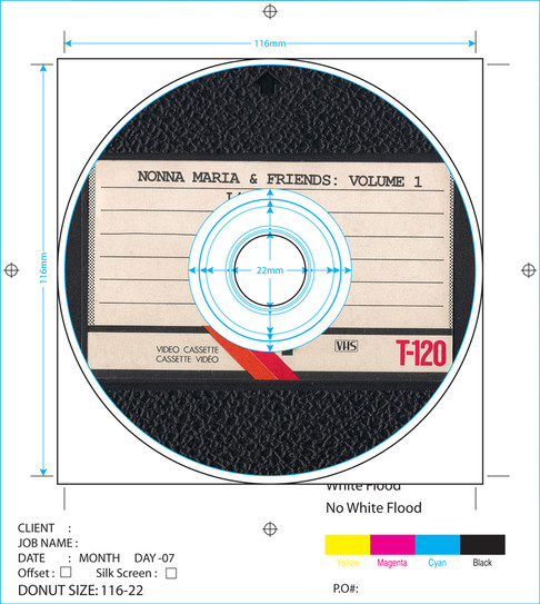 """DVD design for """"Nonna Maria and Friends"""" compilation DVD"""