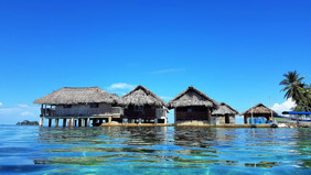 San Blas panama cabin rentals over the water