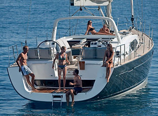 Croatia Sailing Charter with guests lounging and relaxing