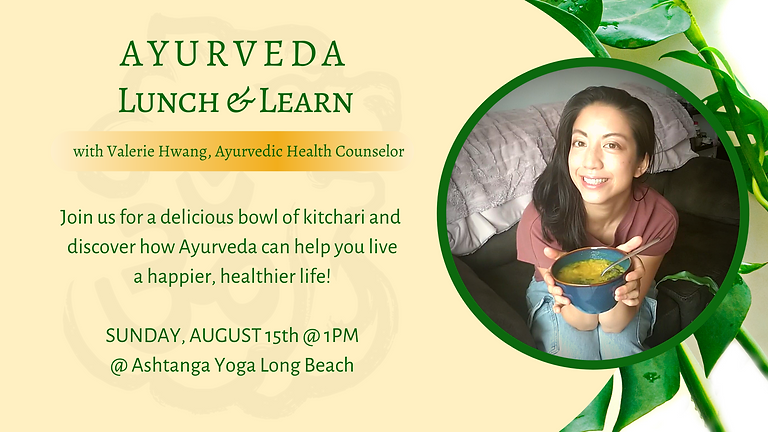 Ayurveda Lunch & Learn @ AYLB