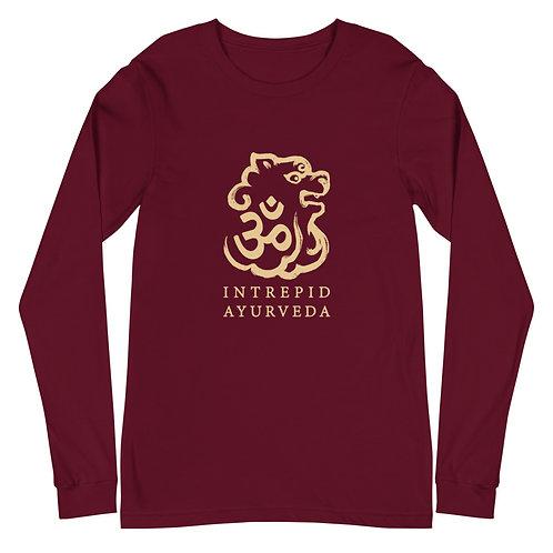 Intrepid Ayurveda Long Sleeve Tee - Gold Print