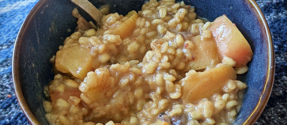Cozy up with Spiced Apple Barley Breakfast