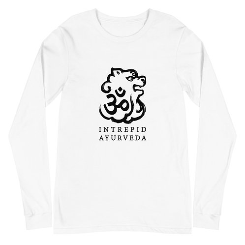 Intrepid Ayurveda Long Sleeve Tee - Black Print